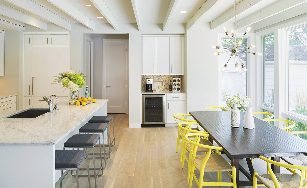 Elevation homes minnesota custom home builder for Yellow farmhouse table